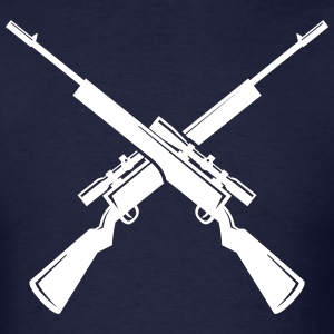 Sniper clipart crossed rifle Rifles T Crossed Shop Men's