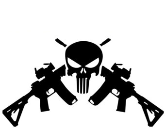 Sniper clipart crossed rifle Etsy Decal Crossed decal crossed