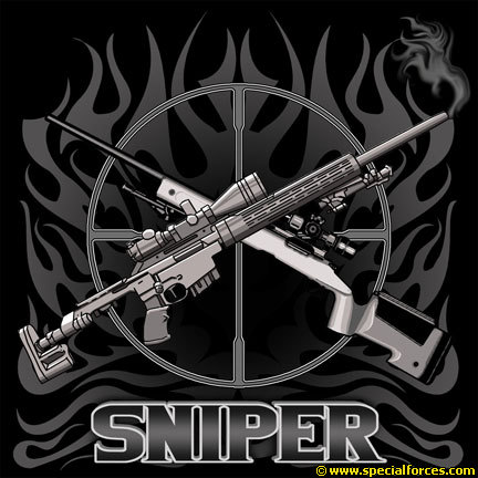 Sniper clipart crossed rifle Short Shirt Mens T Sleeve