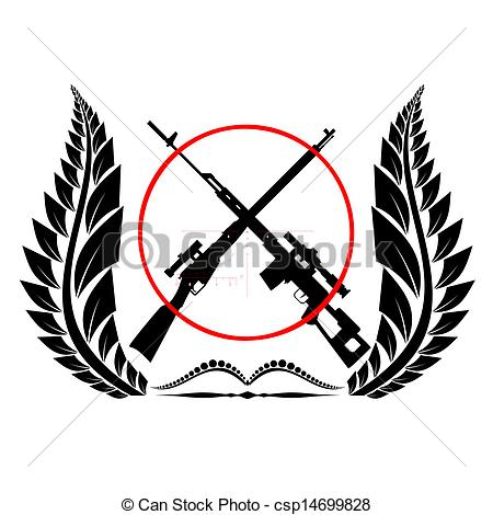 Sniper clipart crossed rifle With Icon Illustration rifles rifles