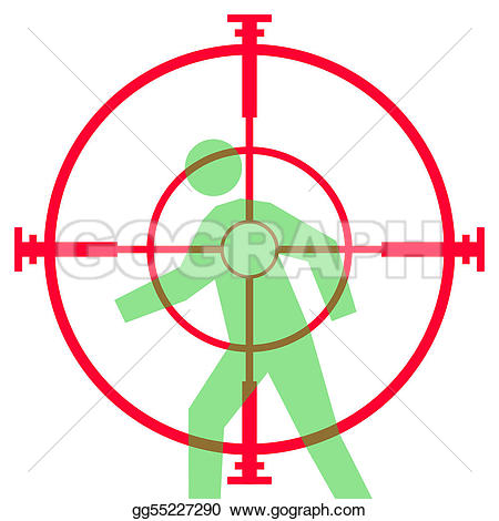 Snipers clipart gun sight At Illustration scope aiming Drawing