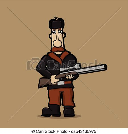 Sniper clipart hunter Of of a a Caricature