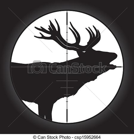 Sniper clipart hunter Scope scope Vector  crosshair