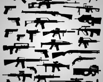 Assault Rifle clipart uzi 47 Digital Weapon Clipart SVD