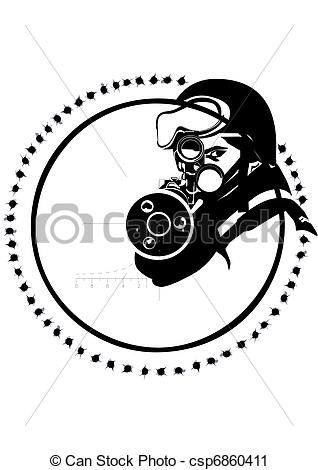 Snipers clipart masked  Vector scope in officer