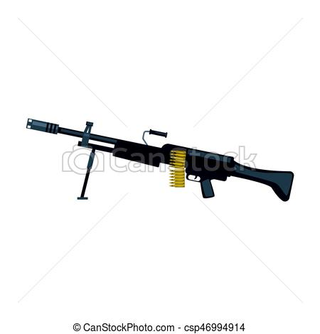 Machine Gun clipart military weapon Art Automatic vector of Military