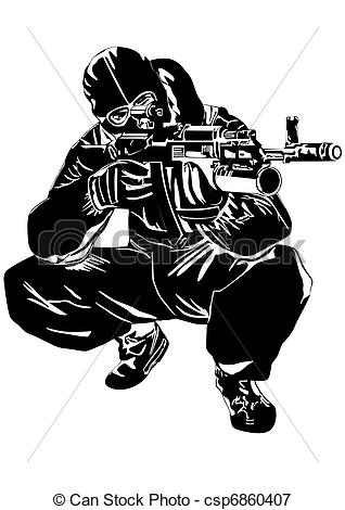 Snipers clipart military On Sniper of illustration The