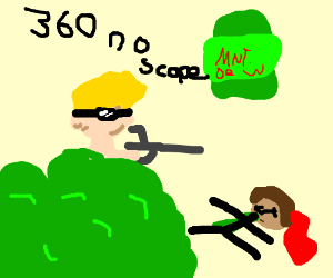 Sniper clipart cartoon Sniper mlg (drawing by mode