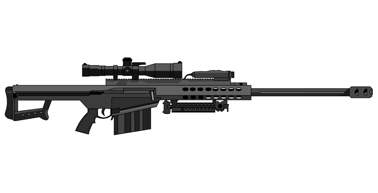 Drawn snipers 50 cal Logo sniper  Barrett rifle