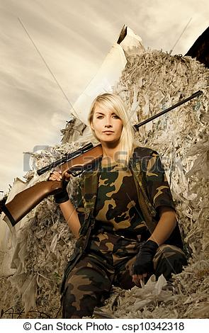 Sniper clipart solider A rifle soldier rifle a