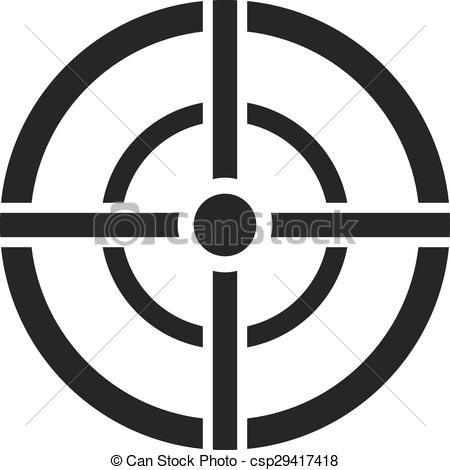 Vector Crosshair symbol and target