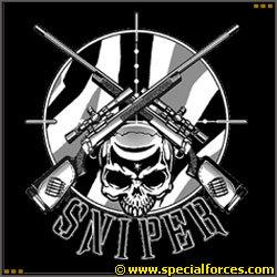 Snipers clipart skull T on Mens Sniper Sleeve
