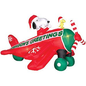 Snoopy clipart airplane Christmas snoopy christmas inflatable Art