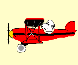 Snoopy clipart airplane Green flying Snoopy in Bomber