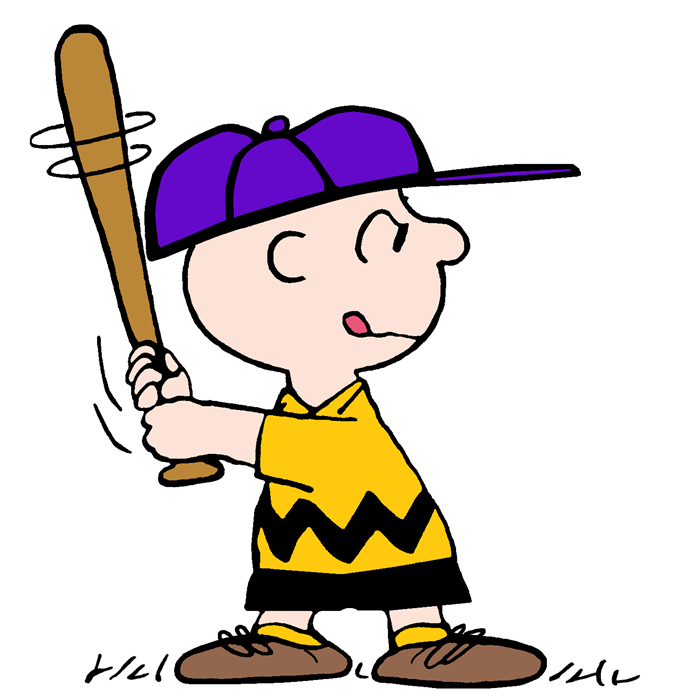 Snoopy clipart baseball Some Batter And Baseball Brown