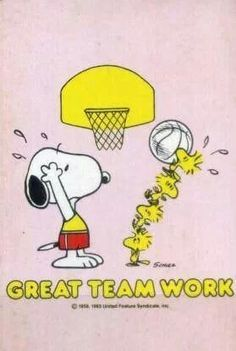 Snoopy clipart basketball Clipart snoopy (16+) team work