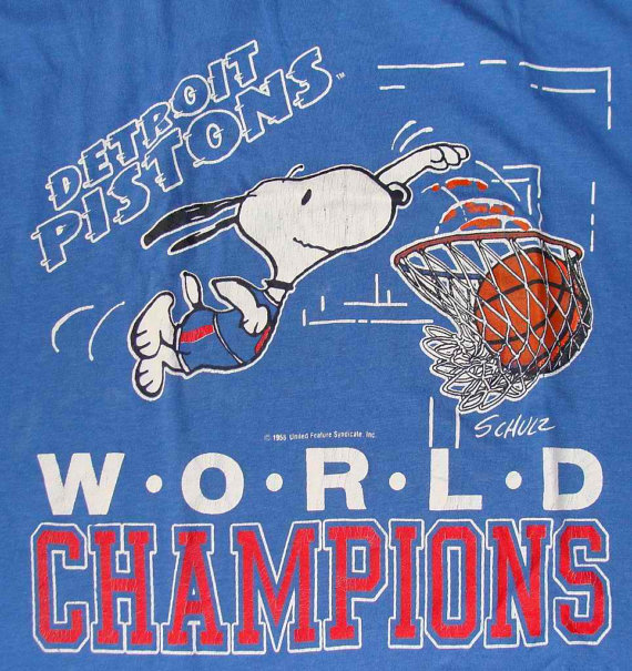 Snoopy clipart basketball SNOOPY Clip PISTONS Basketball 80s