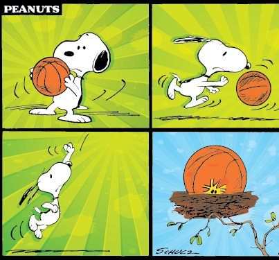 Snoopy clipart basketball Snoopy #Peanuts Today's plays basketball!