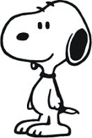 Snoopy clipart black and white Clipart Black Template  and