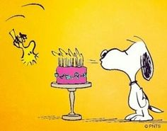 Snoopy clipart cake Envelope Booklet www birthday USED