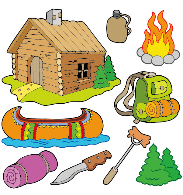 Hiking clipart kid campfire Camping  Free Art Art