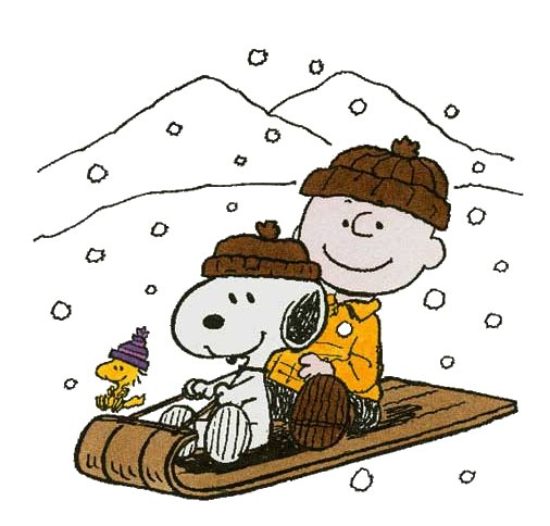 Brown clipart sled Sled on  on Snoopy