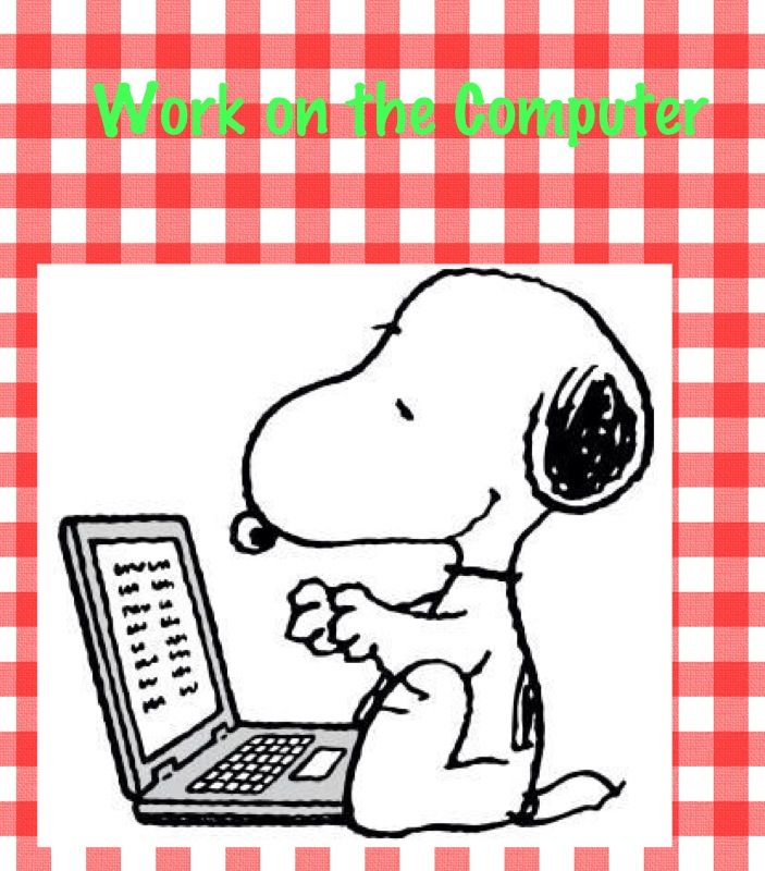 Snoopy clipart computer Reading on about 305 best