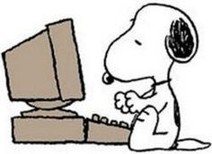 Snoopy clipart computer Computer  Snoopy !!! Snoopy