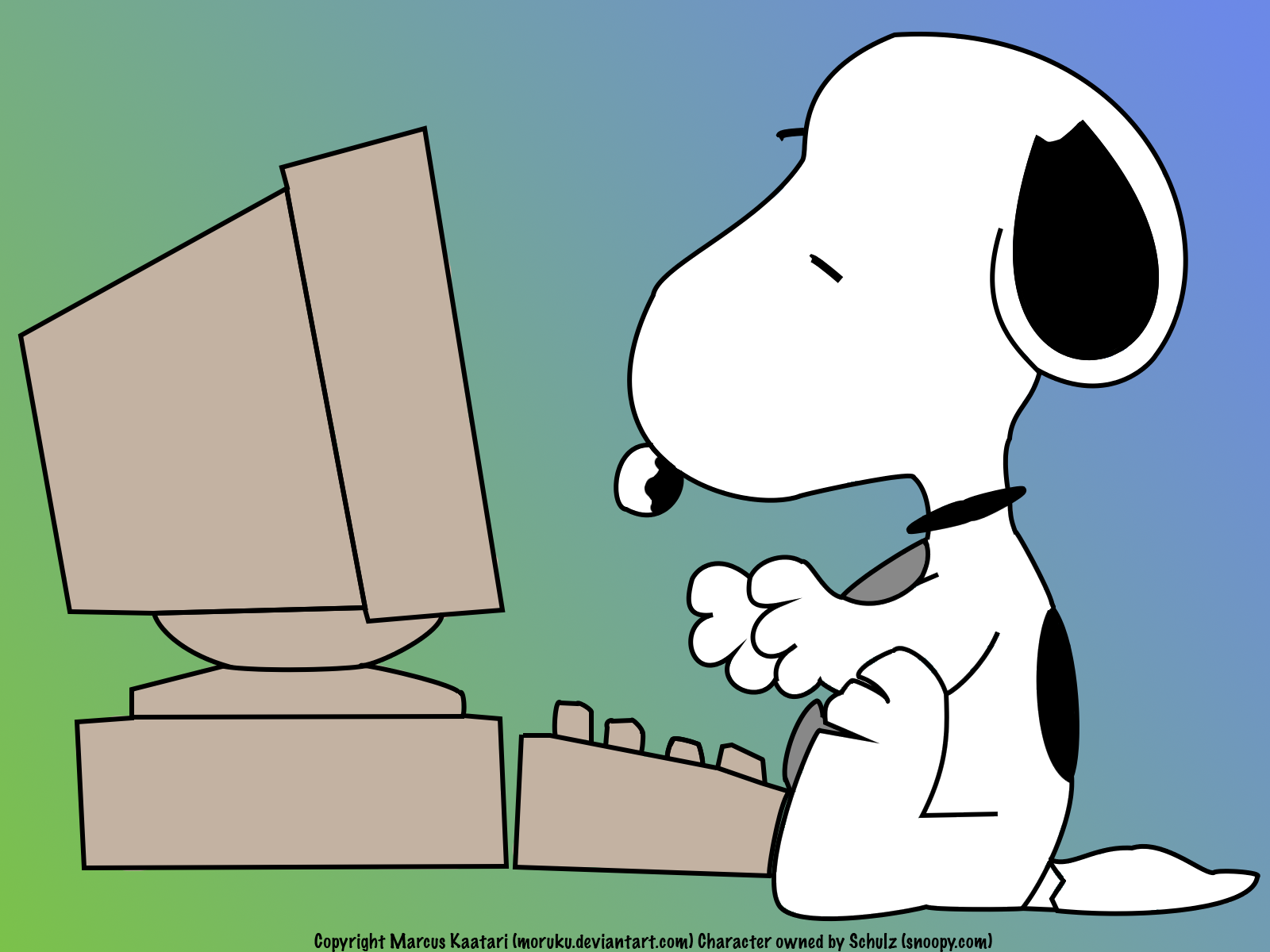 Snoopy clipart computer Typing Download – Typing Clip