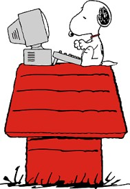 Snoopy clipart computer Clip Weblog Cool links http://www