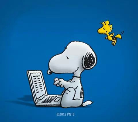 Snoopy clipart computer & Typing woodstock clipart Snoopy