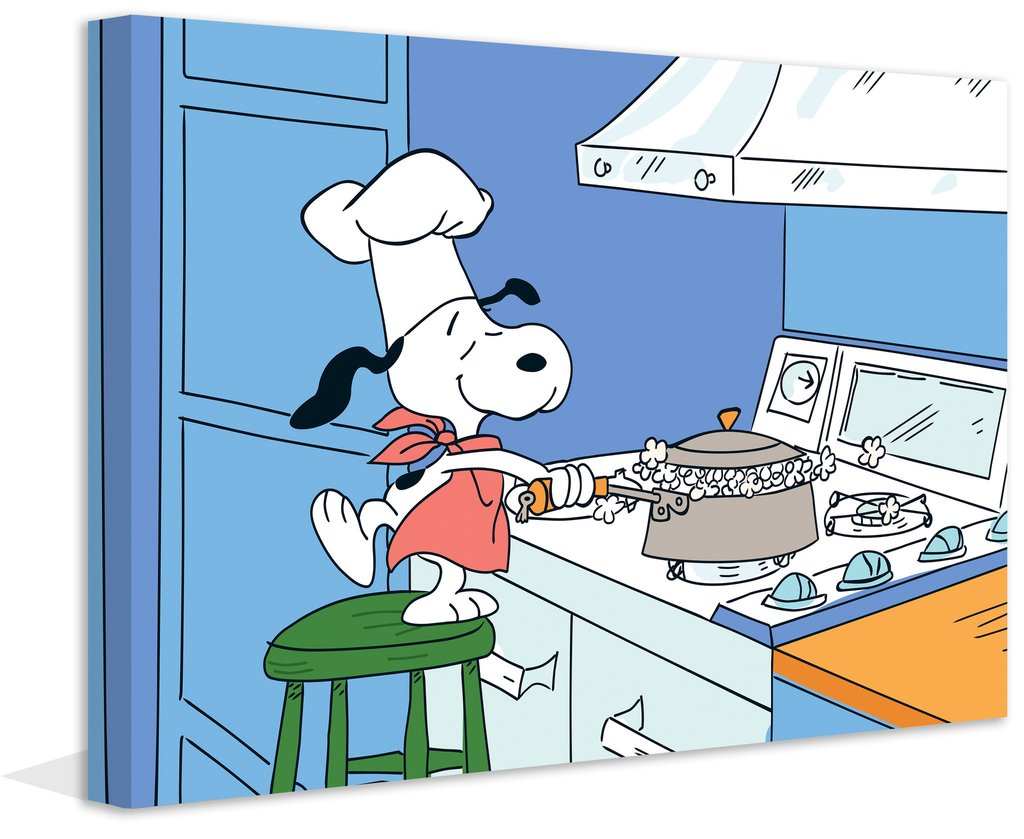Snoopy clipart cooking Cooking Art Canvas Snoopy Art