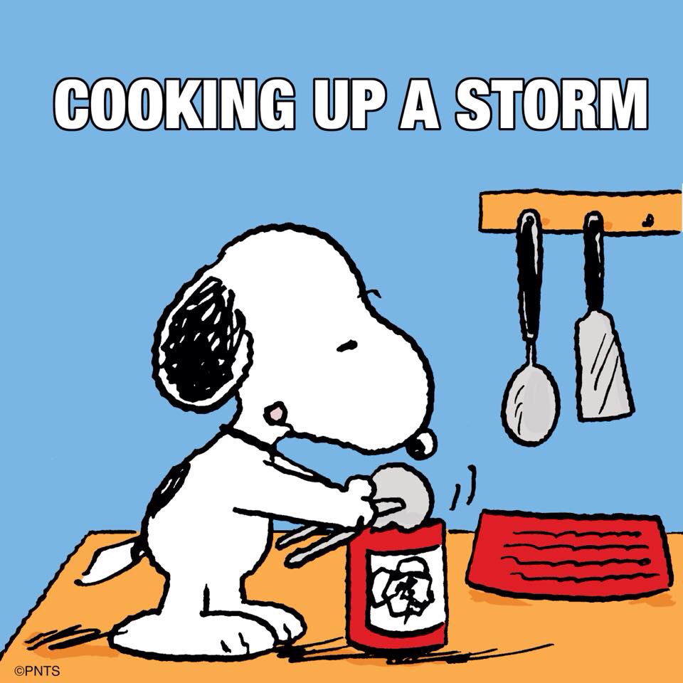 Snoopy clipart cooking Chef  Is Storm! Up