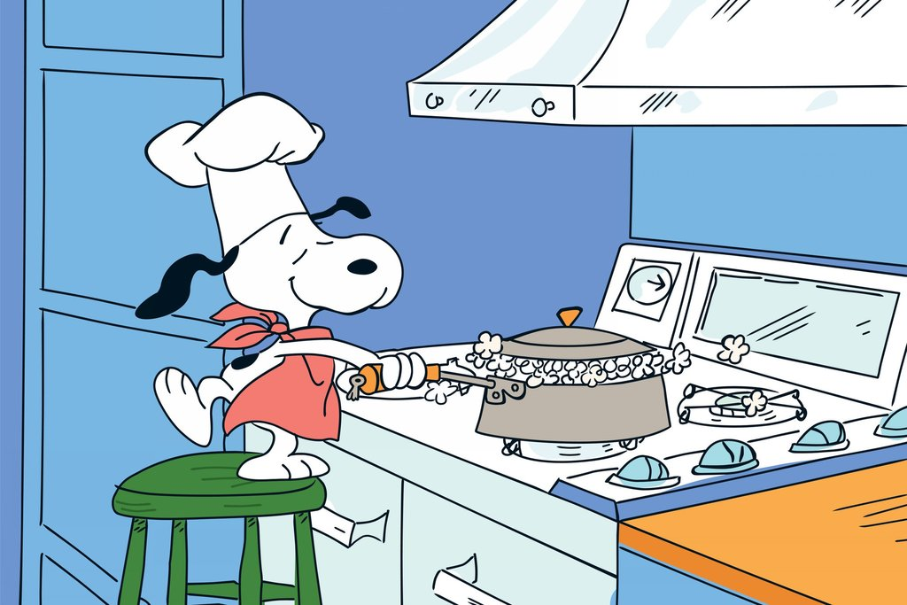 Snoopy clipart cooking Charlie – popcorn Art Canvas