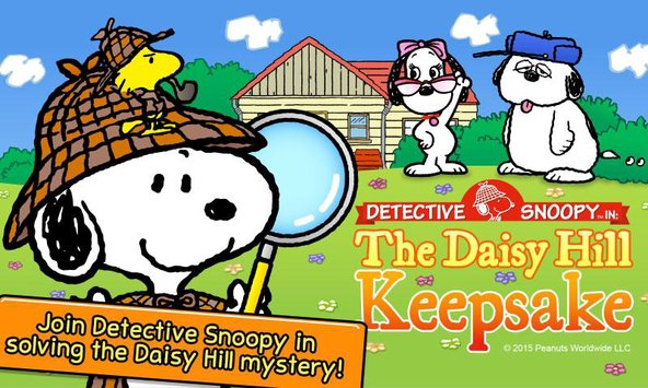 Snoopy clipart detective  Detective Snoopy apk Puzzle
