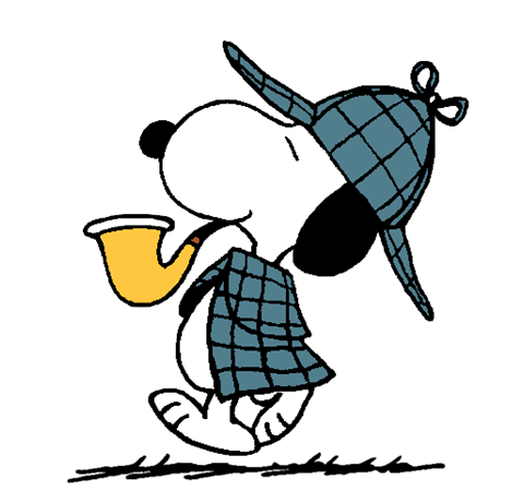 Snoopy clipart detective  Some Detective Snoopy World