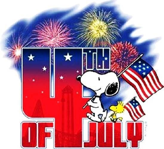 Heart clipart snoopy Snoopy Happy july clip 4th