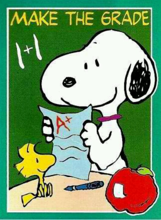 Snoopy clipart go to school Woodstock and Grade TO School
