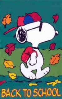 Snoopy clipart go to school Images best School about 56