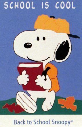 Snoopy clipart go to school Boundary School San – on