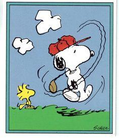 Snoopy clipart golf Pekes Brown palos golfista