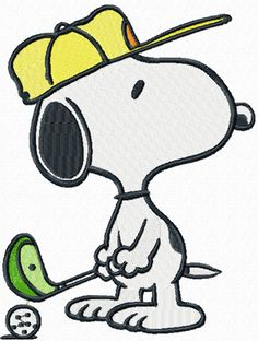 Snoopy clipart golf The para Search snoopy Pinterest