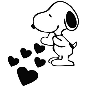 Snoopy clipart heart Snoopy  Removable Small Removable