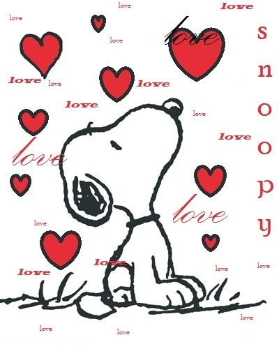 Snoopy clipart heart & Snoopy love Pinterest images