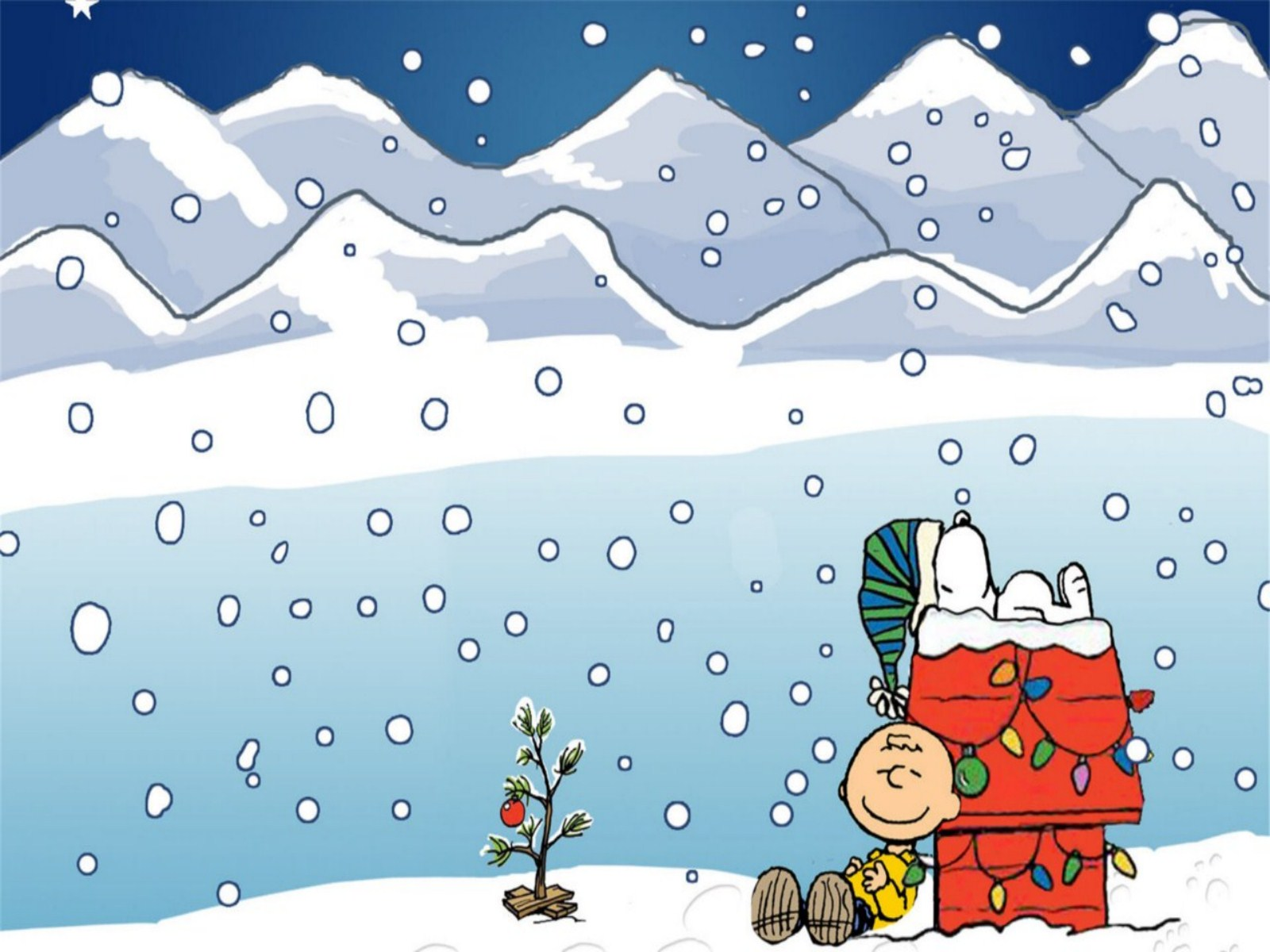 Snoopy clipart january Christmas Winter Wallpaper Wallpaper Peanuts