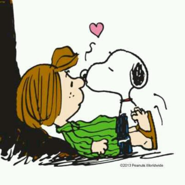 Snoopy clipart kiss Pinterest AMOR! PATTY LOVE! KISS!