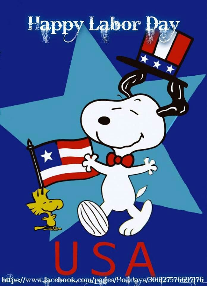 Snoopy clipart labor day Patriotic Labor Pinterest Day on