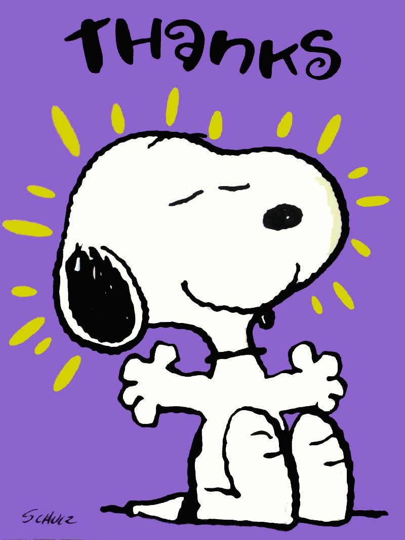 Snoopy clipart may To who it all Thank