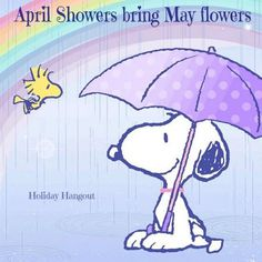 Snoopy clipart may Flowers Snoopy <3 bring April