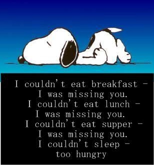 Snoopy clipart miss you Sleep missing sayings! snoopy eat